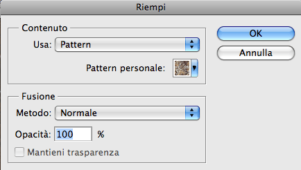 Photoshop riempi tutorial